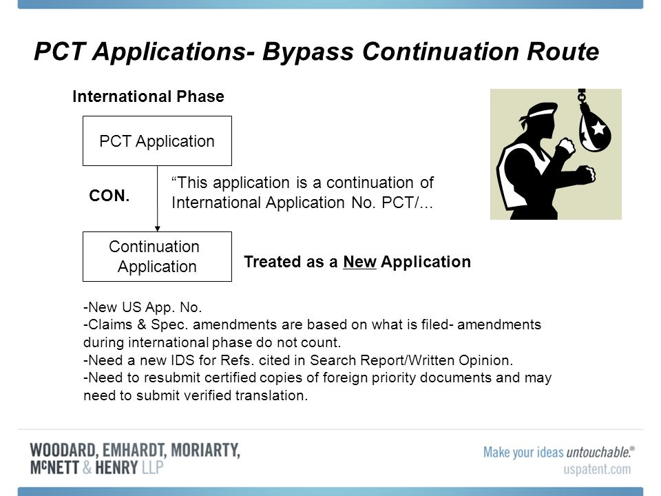 PCT Applications- Bypass Continuation Route