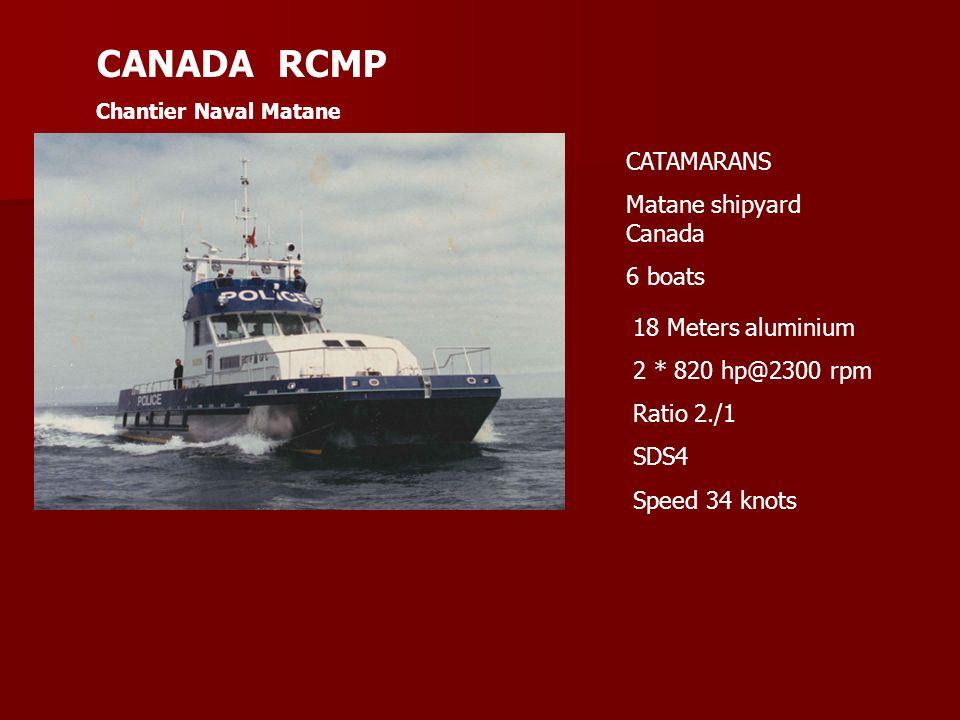 CANADA RCMP CATAMARANS Matane shipyard Canada 6 boats