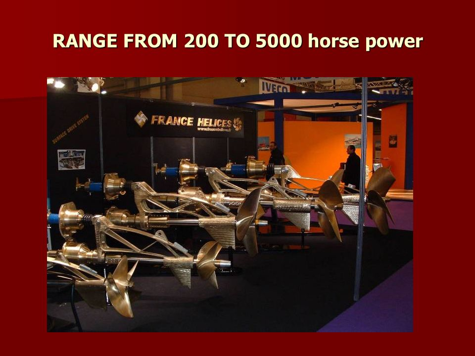 RANGE FROM 200 TO 5000 horse power