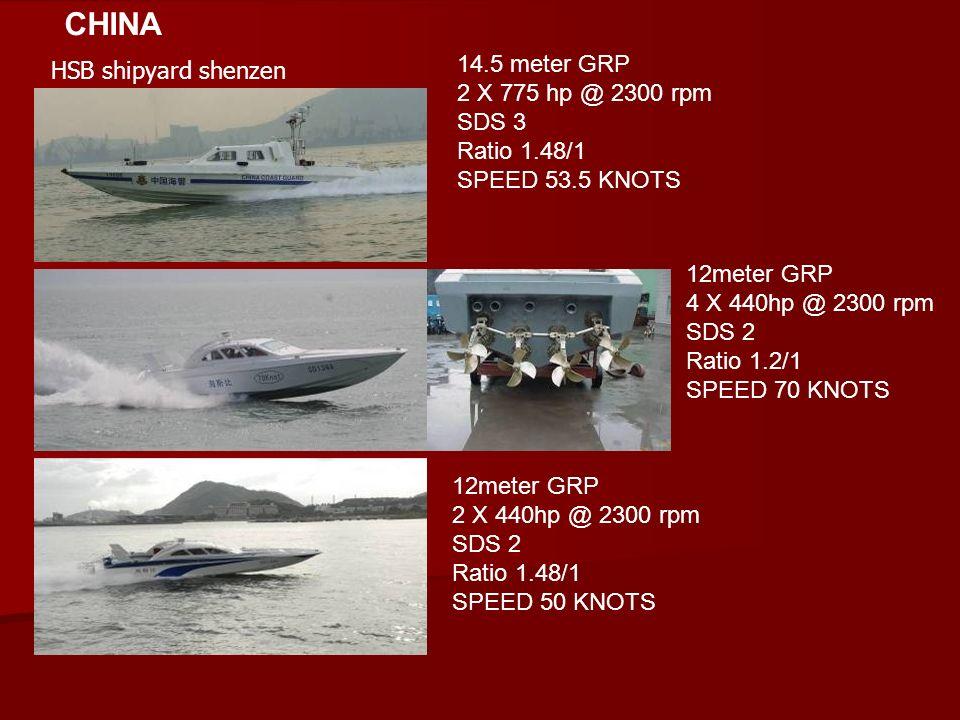 CHINA 14.5 meter GRP HSB shipyard shenzen 2 X 775 hp @ 2300 rpm SDS 3