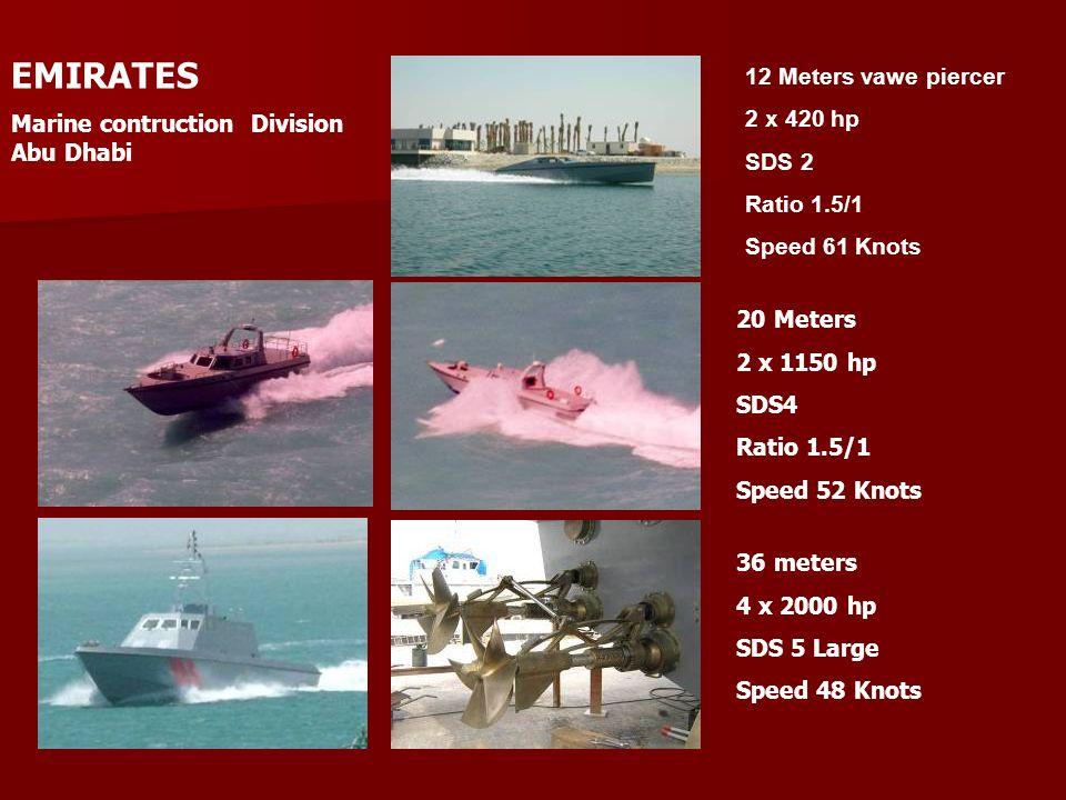 EMIRATES 12 Meters vawe piercer Marine contruction Division Abu Dhabi