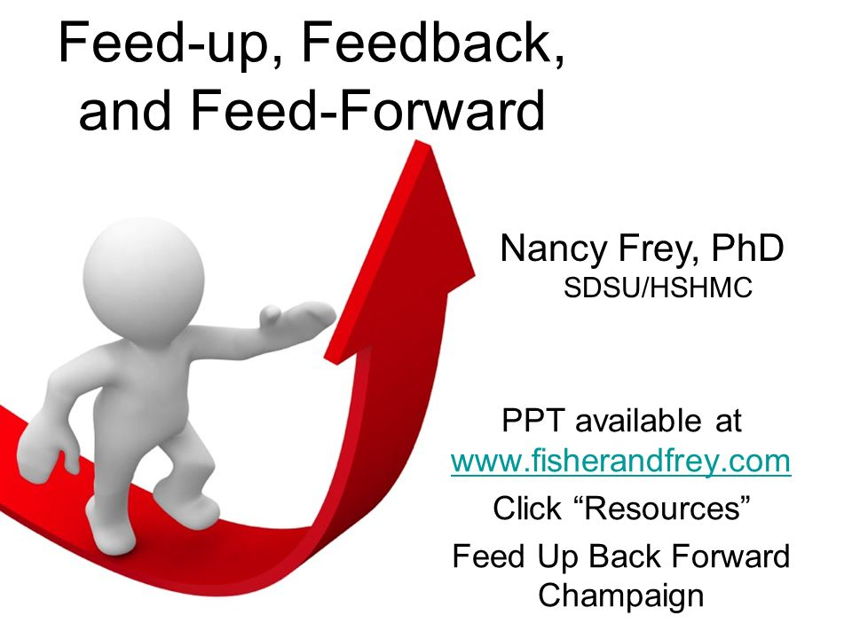 Feed-up, Feedback, and Feed-Forward
