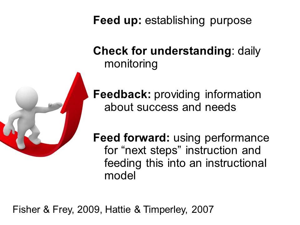 Feed up: establishing purpose