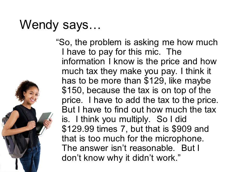 Wendy says…
