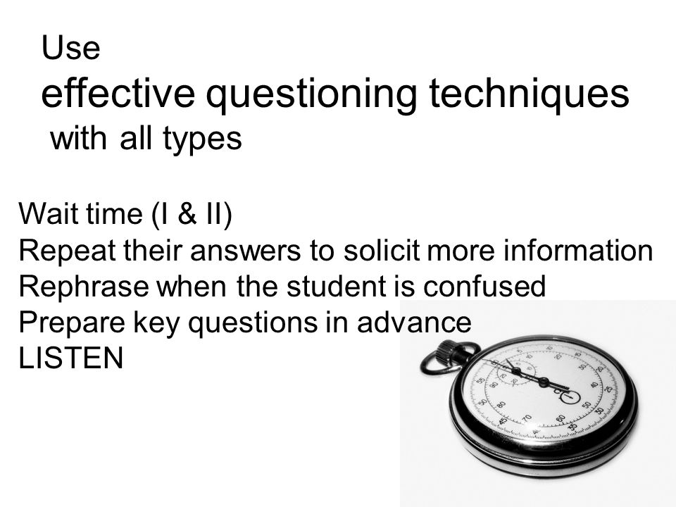 effective questioning techniques