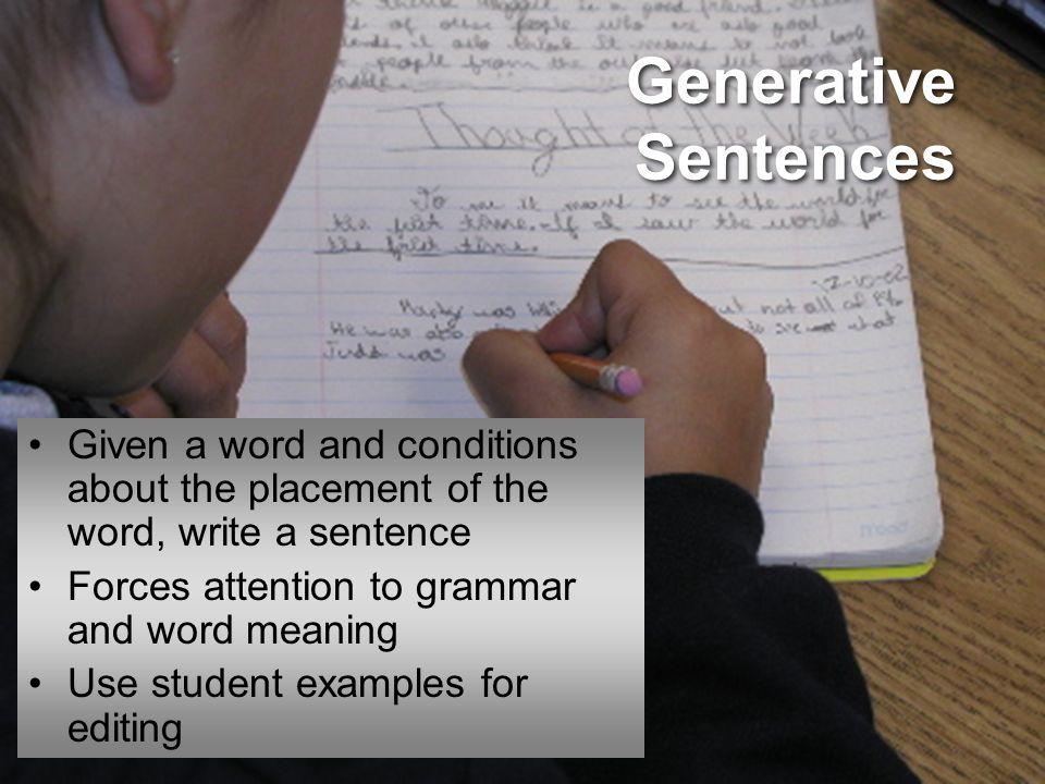 Generative Sentences What are Comon Grammar Errors English Learners Make