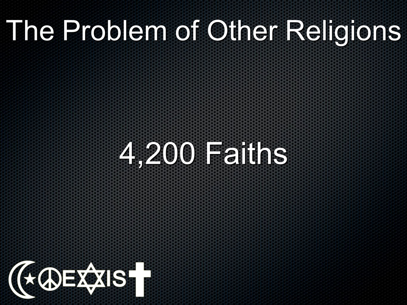 The Problem of Other Religions