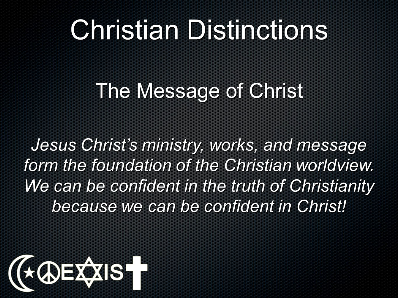 Christian Distinctions