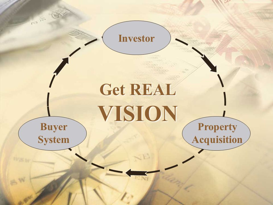 Investor Get REAL VISION Buyer System Property Acquisition