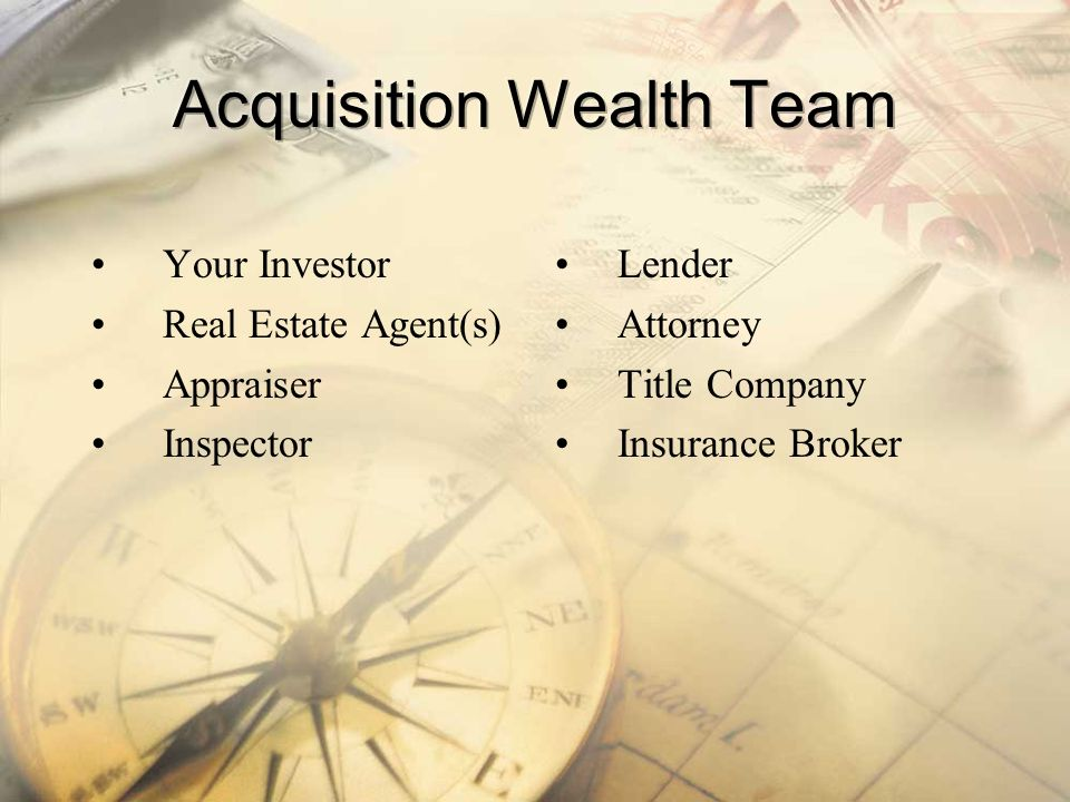 Acquisition Wealth Team