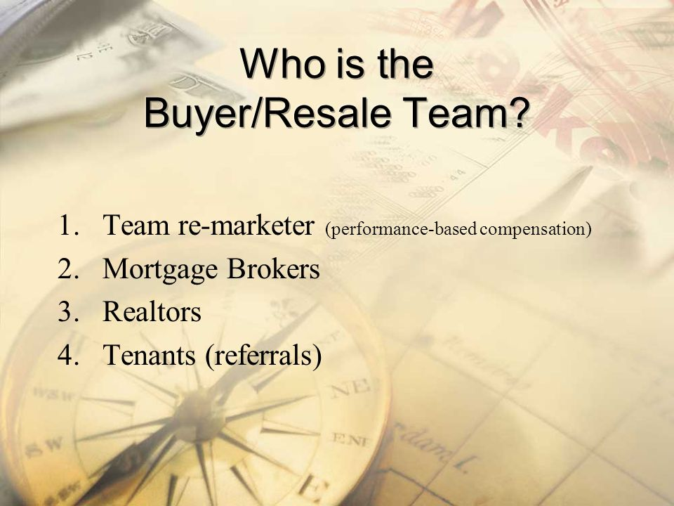 Who is the Buyer/Resale Team