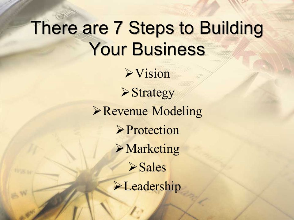 There are 7 Steps to Building Your Business