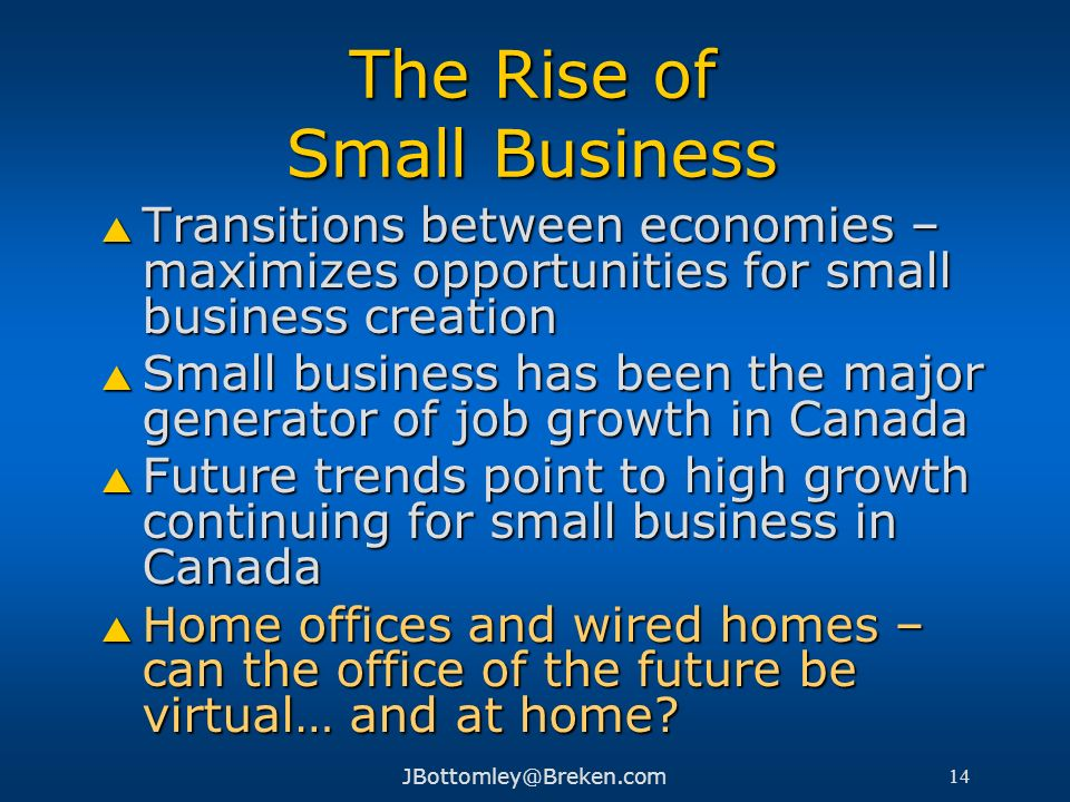 The Rise of Small Business