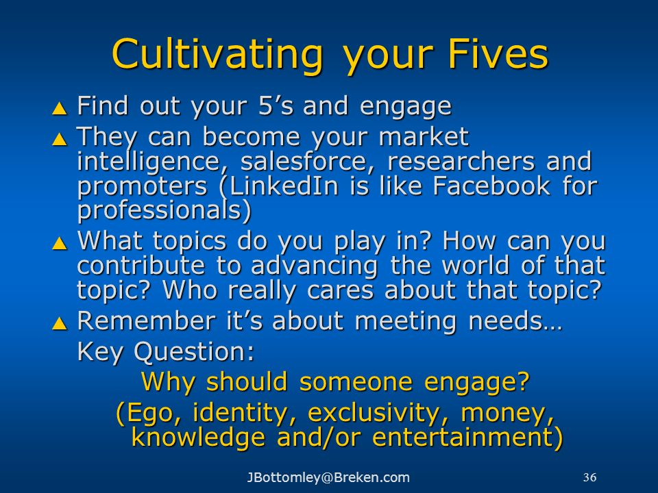Cultivating your Fives
