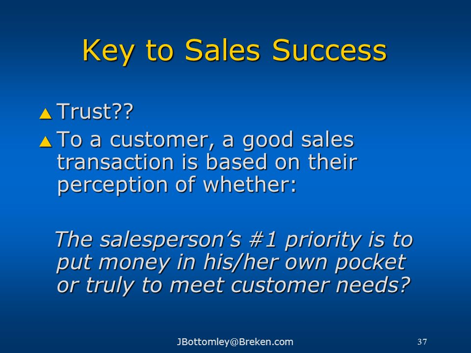 Key to Sales Success Trust