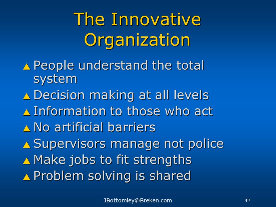 The Innovative Organization