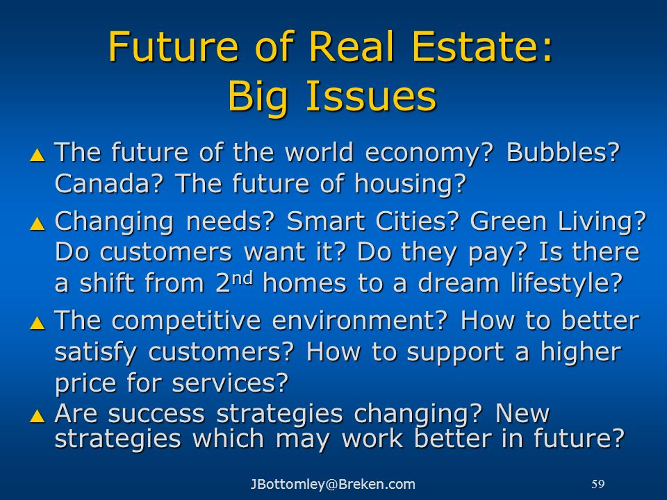 Future of Real Estate: Big Issues