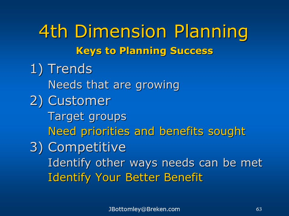 Keys to Planning Success