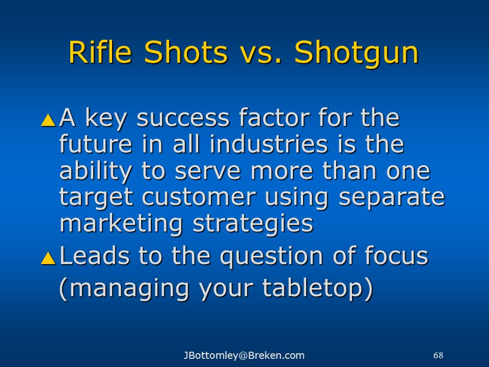 Rifle Shots vs. Shotgun