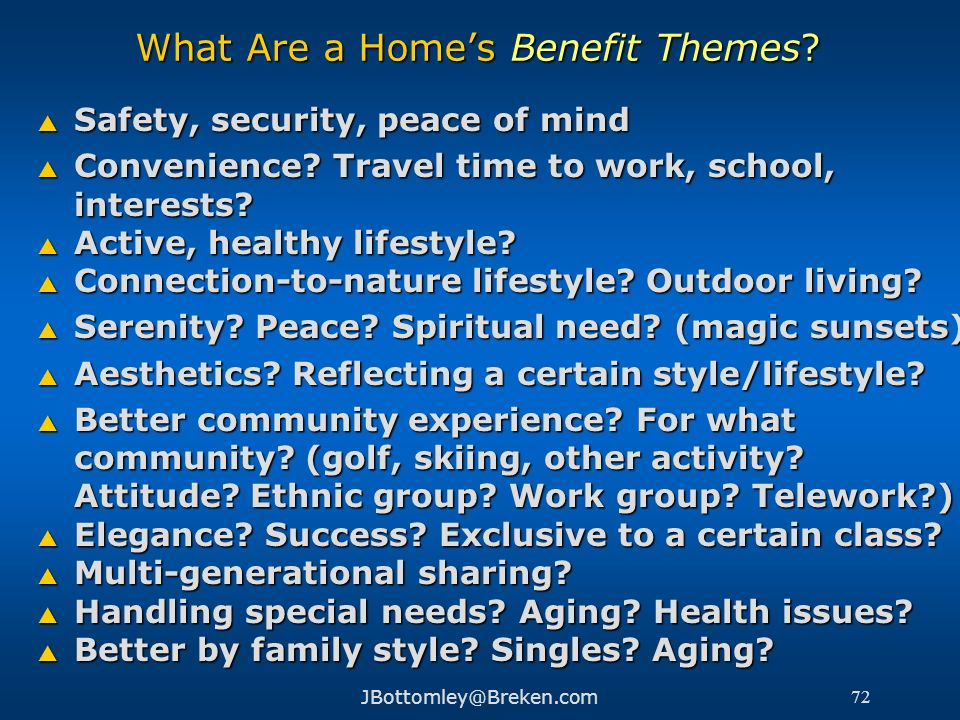 What Are a Home's Benefit Themes
