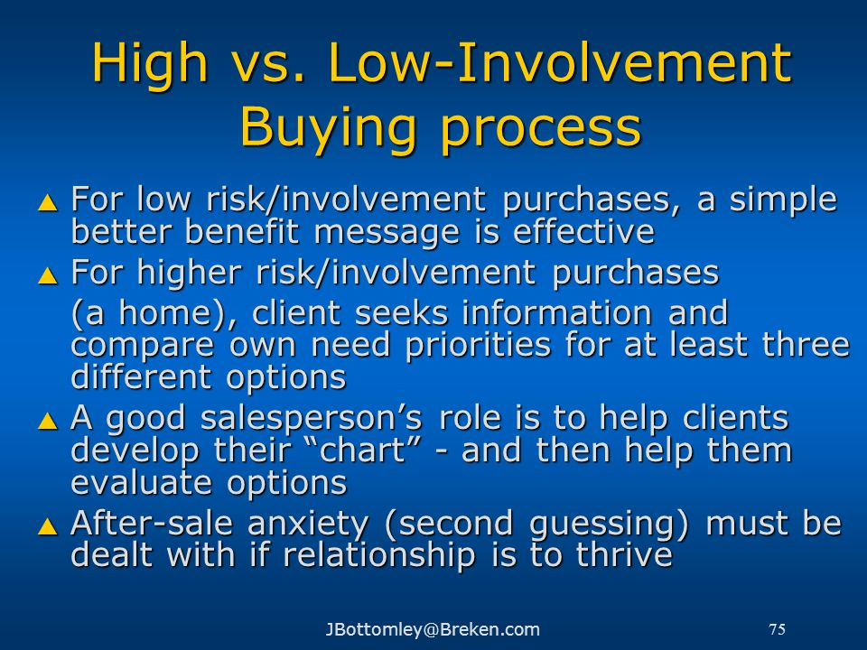 High vs. Low-Involvement Buying process