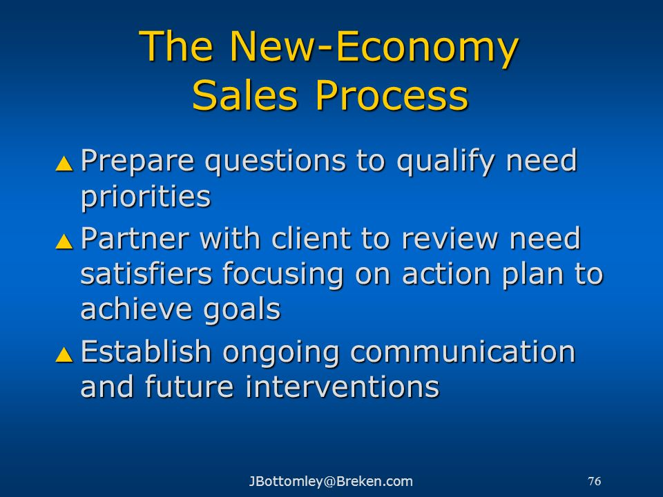 The New-Economy Sales Process