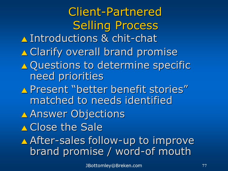 Client-Partnered Selling Process