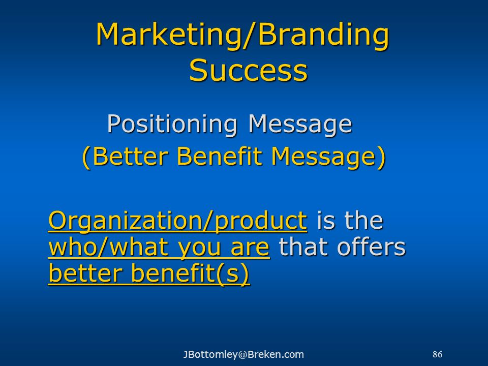 Marketing/Branding Success
