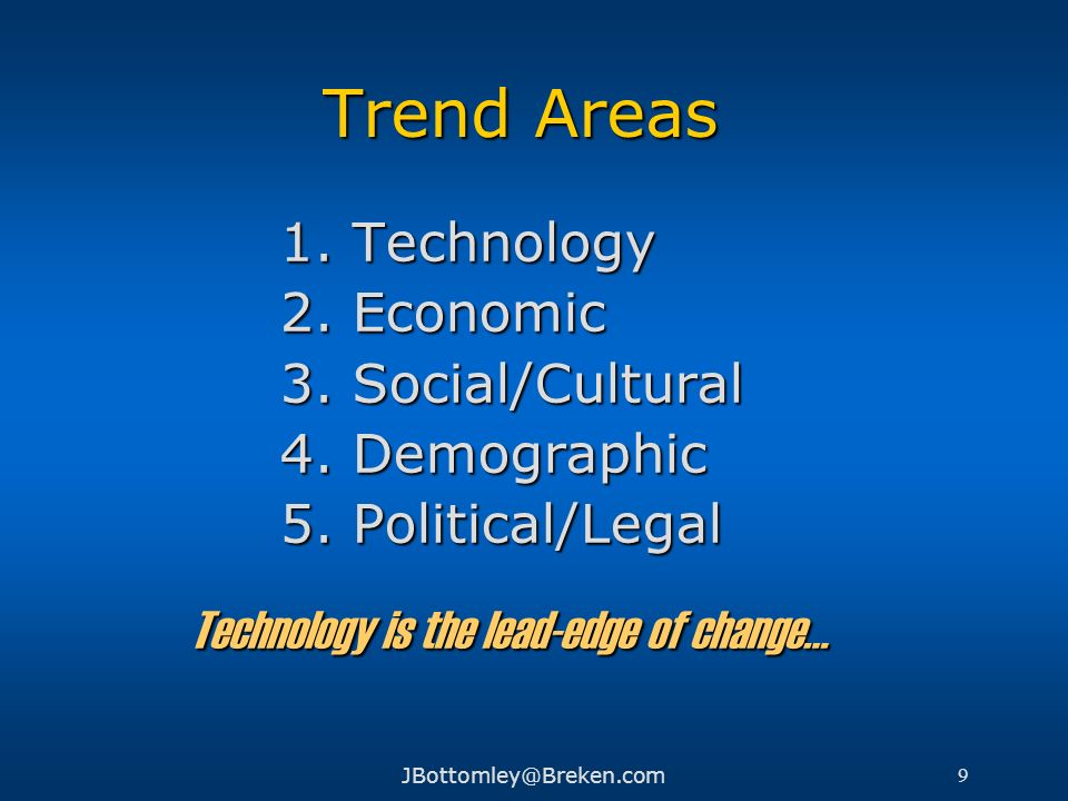 Technology is the lead-edge of change…