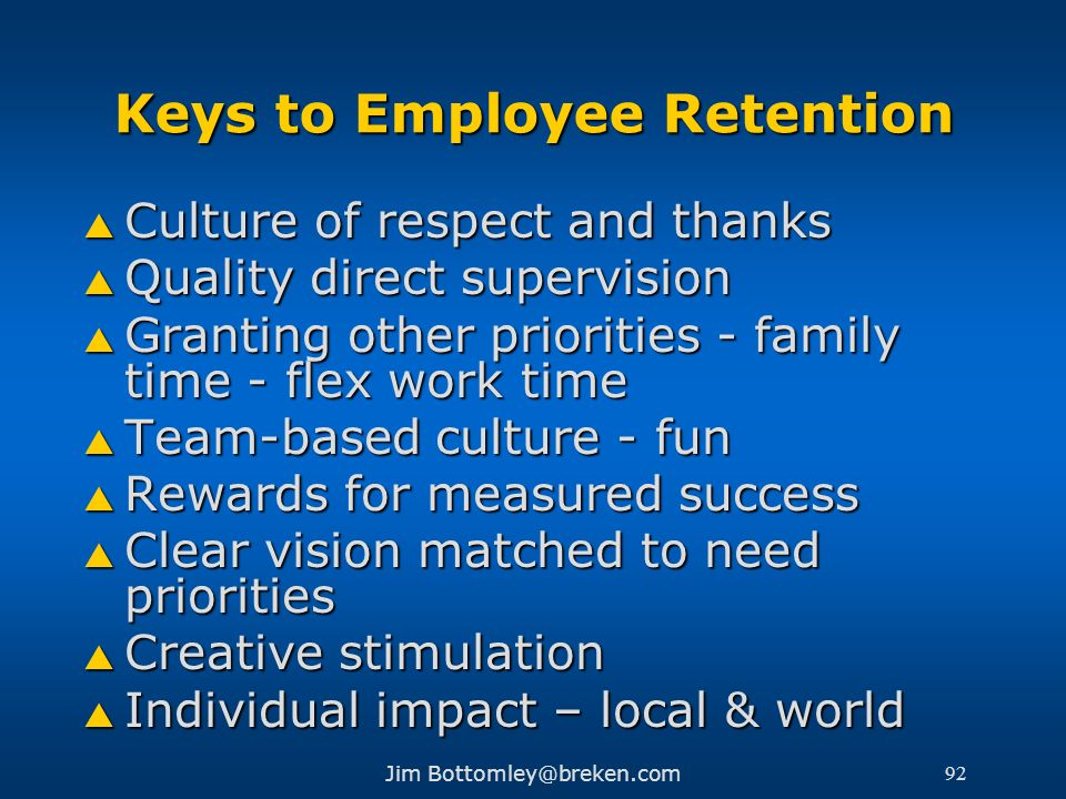 Keys to Employee Retention