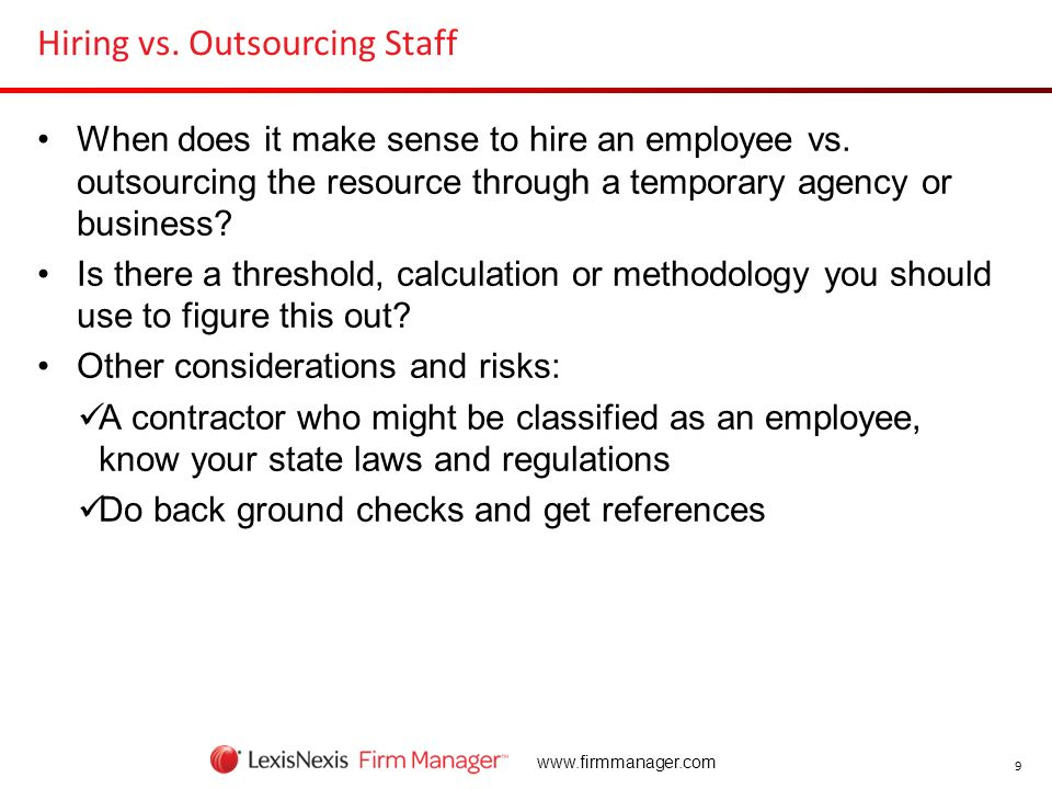 Hiring vs. Outsourcing Staff