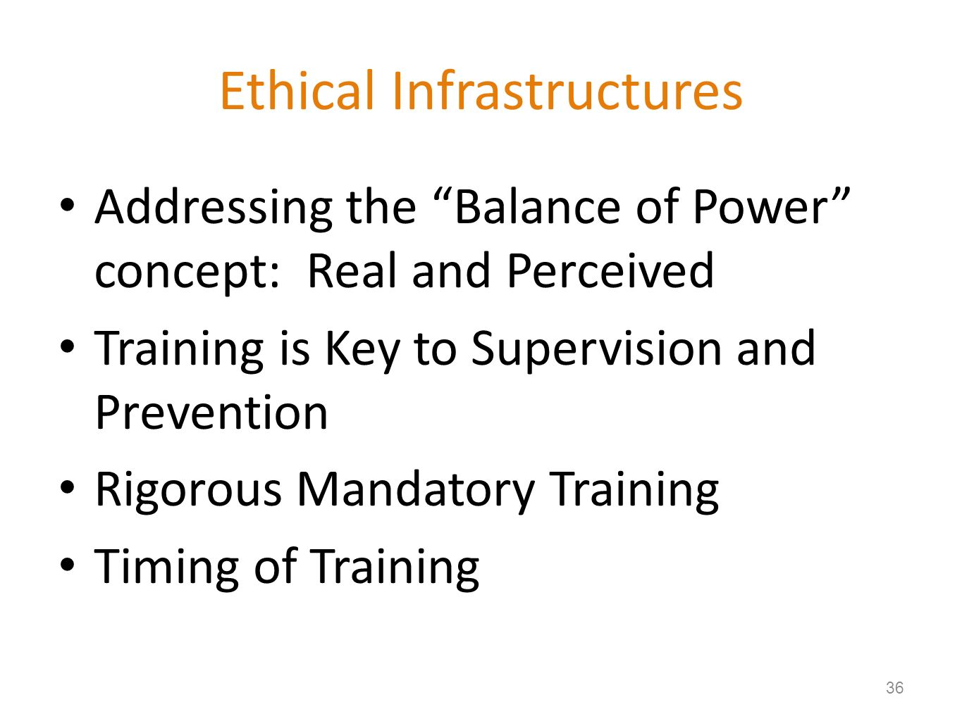 Ethical Infrastructures