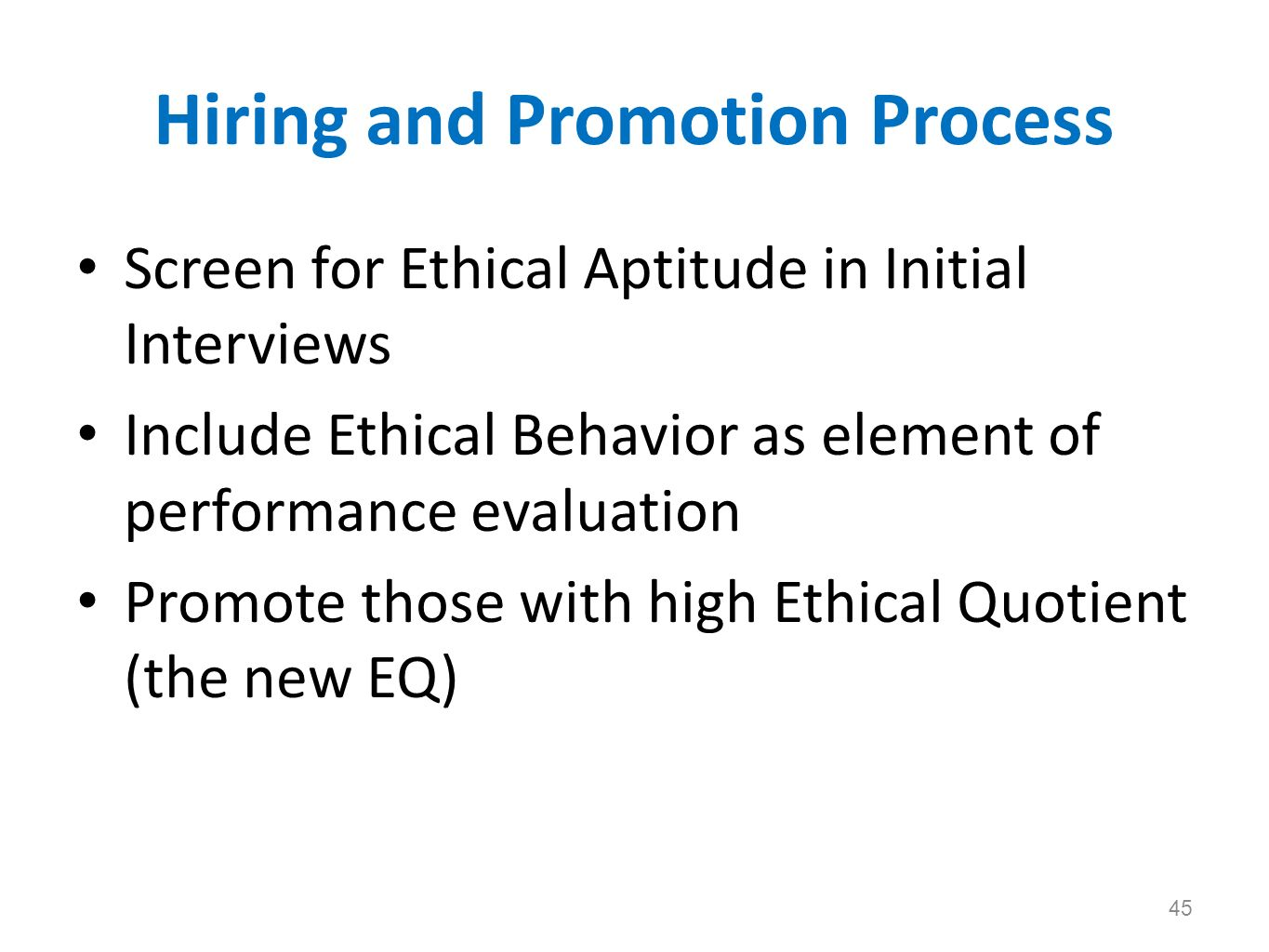 Hiring and Promotion Process