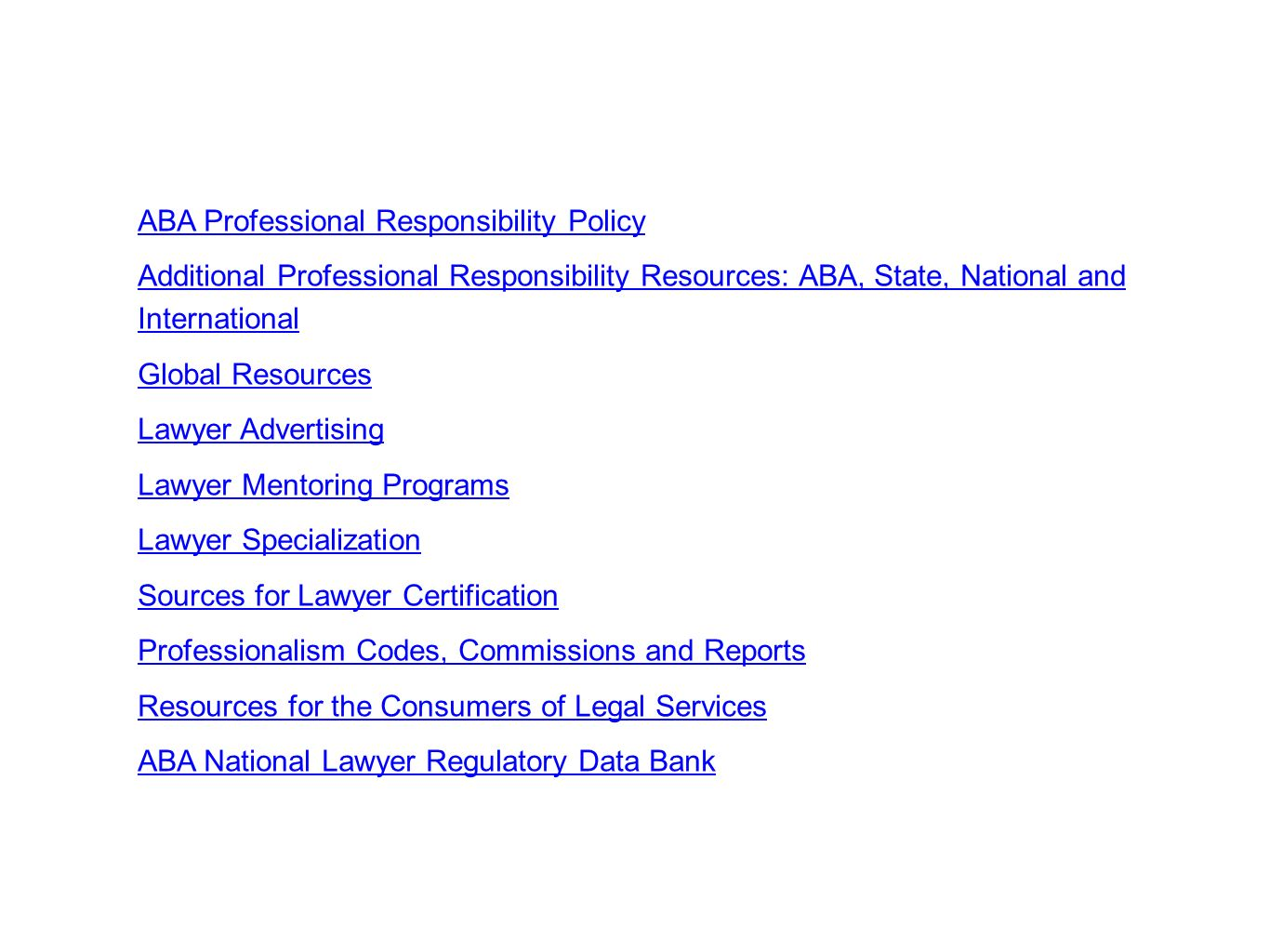 ABA Professional Responsibility Policy