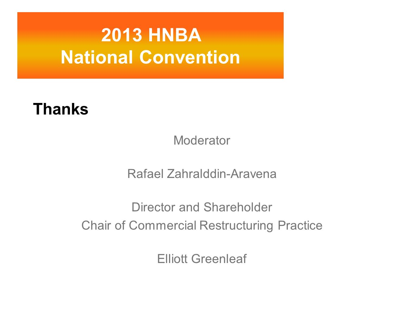 2013 HNBA National Convention