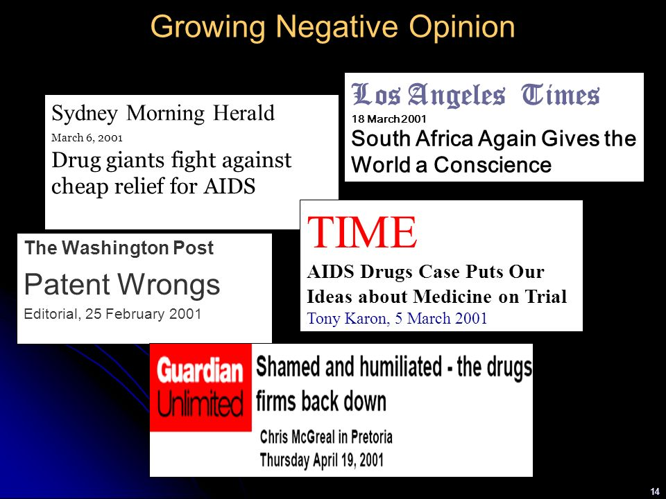 Growing Negative Opinion
