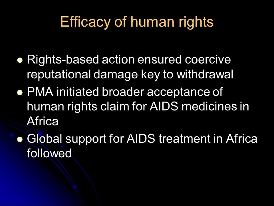 Efficacy of human rights
