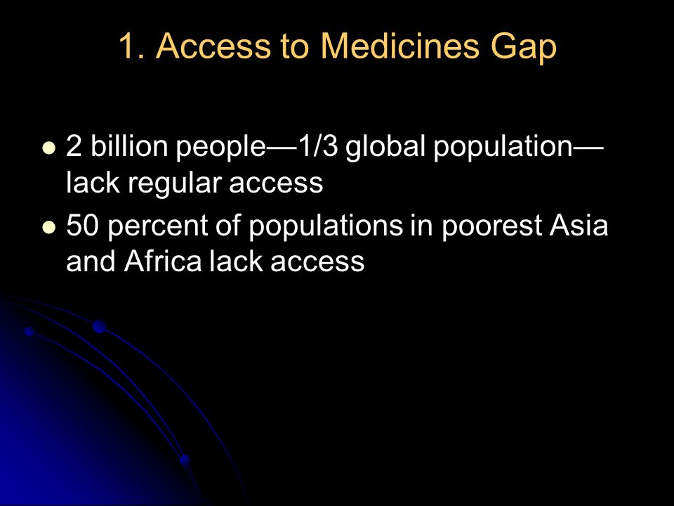 1. Access to Medicines Gap