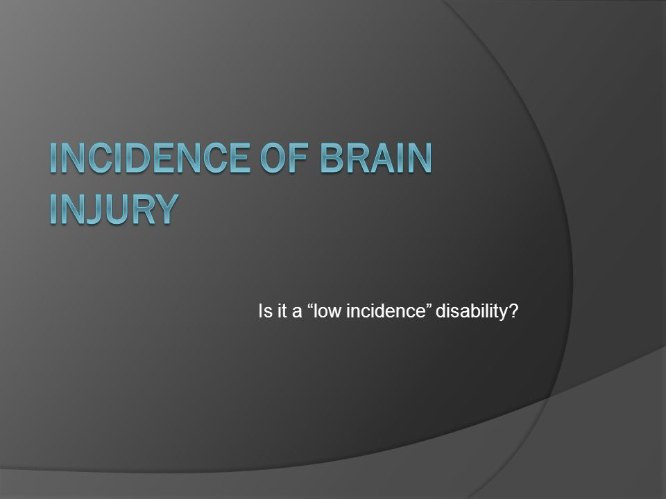 Incidence of Brain Injury