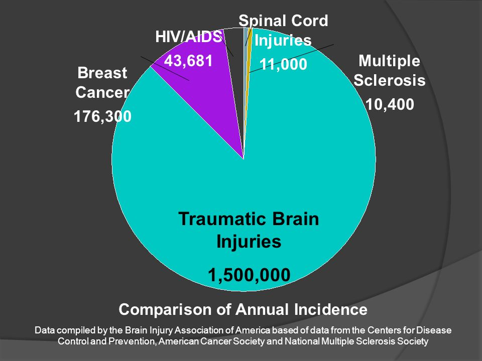 Traumatic Brain Injuries Comparison of Annual Incidence