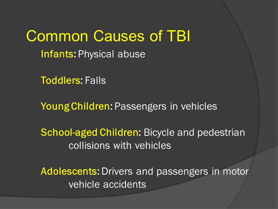 Common Causes of TBI