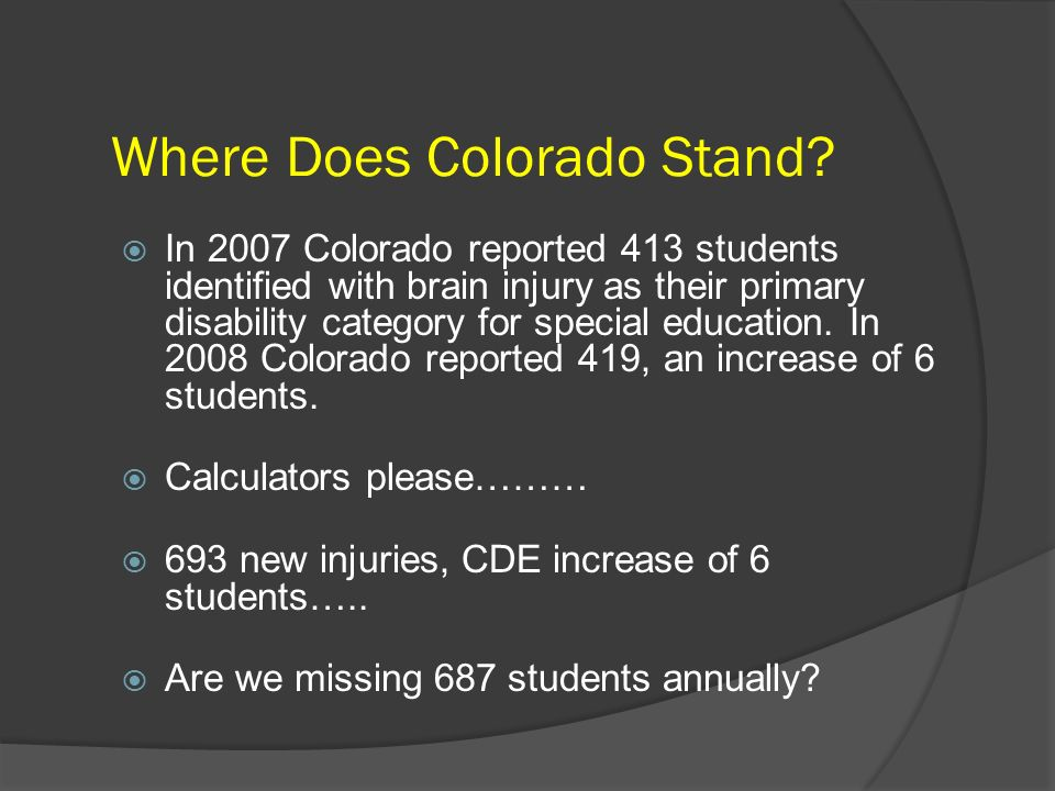 Where Does Colorado Stand