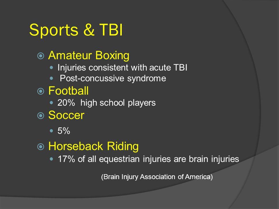 Sports & TBI Amateur Boxing Football Soccer Horseback Riding