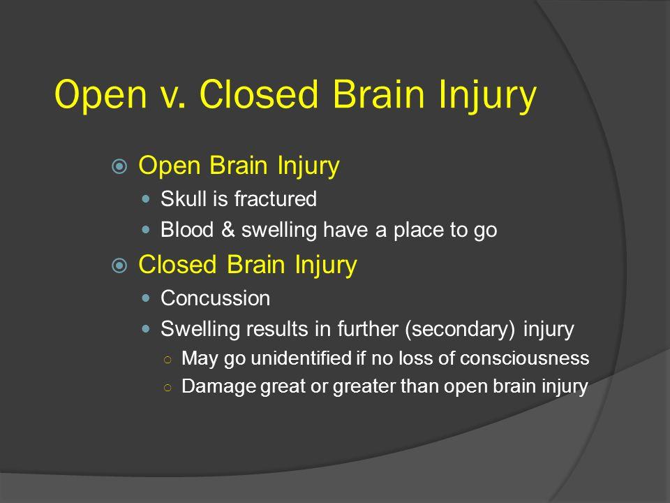 Open v. Closed Brain Injury