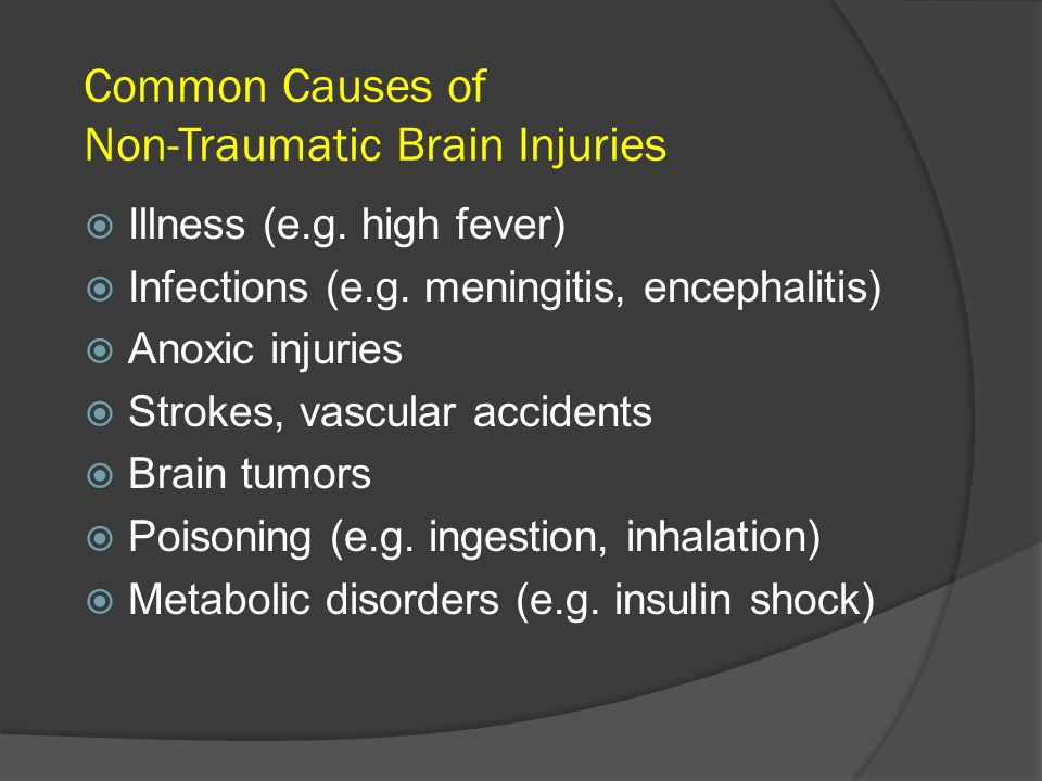 Common Causes of Non-Traumatic Brain Injuries
