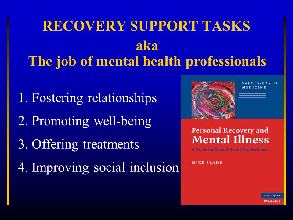 RECOVERY SUPPORT TASKS