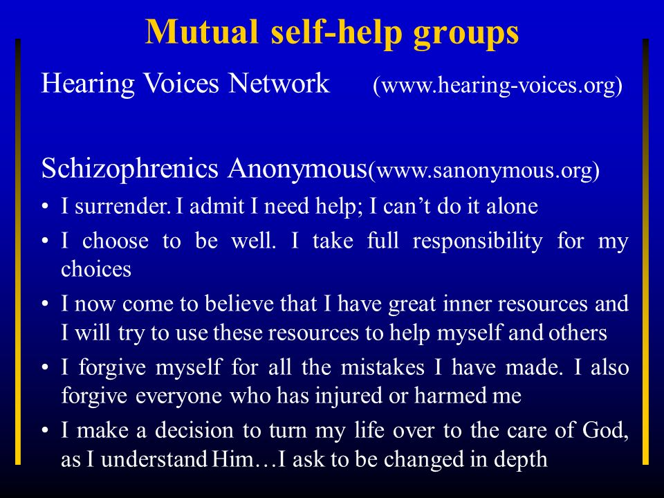Mutual self-help groups