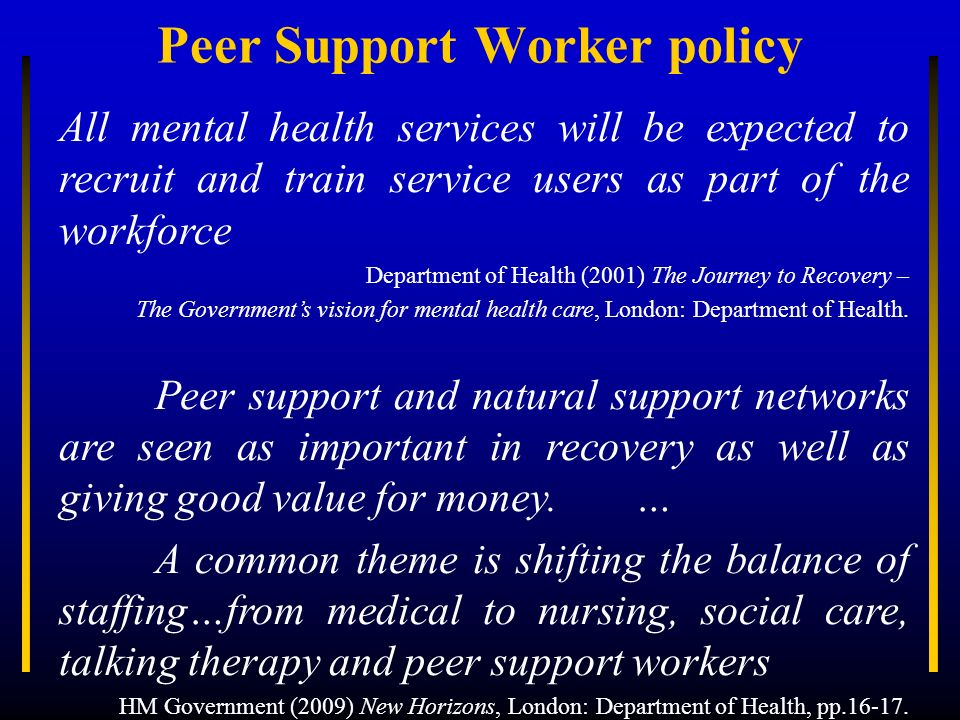 Peer Support Worker policy