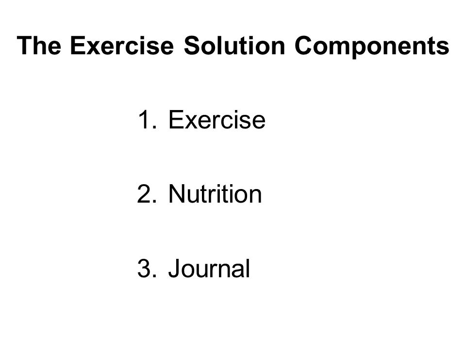 The Exercise Solution Components