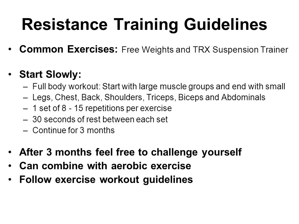 Resistance Training Guidelines